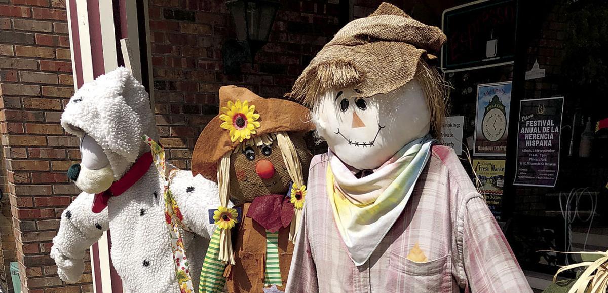 Scarecrow Fest scarecrows in Delavan