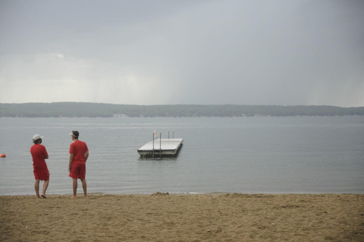Williams Bay beach, water safety patrol members