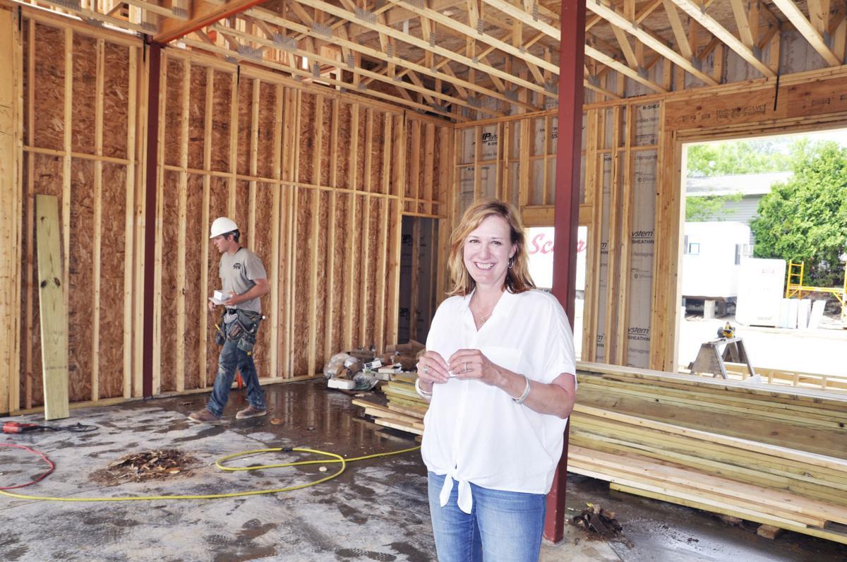 Kathie Perkins at Fontana Boulevard construction site