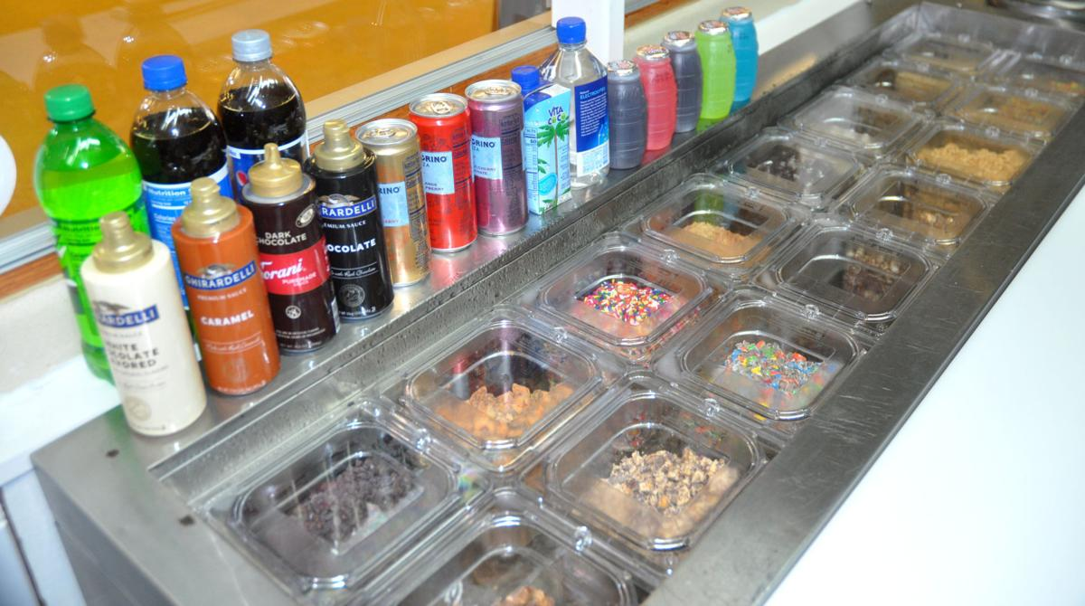 Going Bananas, located in the lower level of the Riviera, features a selection of toppings