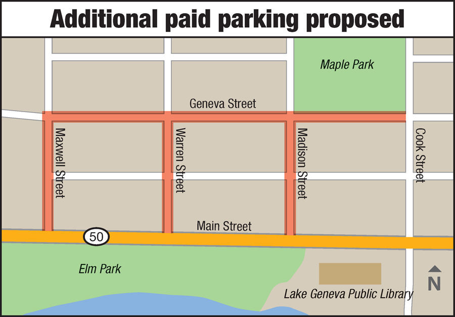 Additional Lake Geneva paid parking proposed