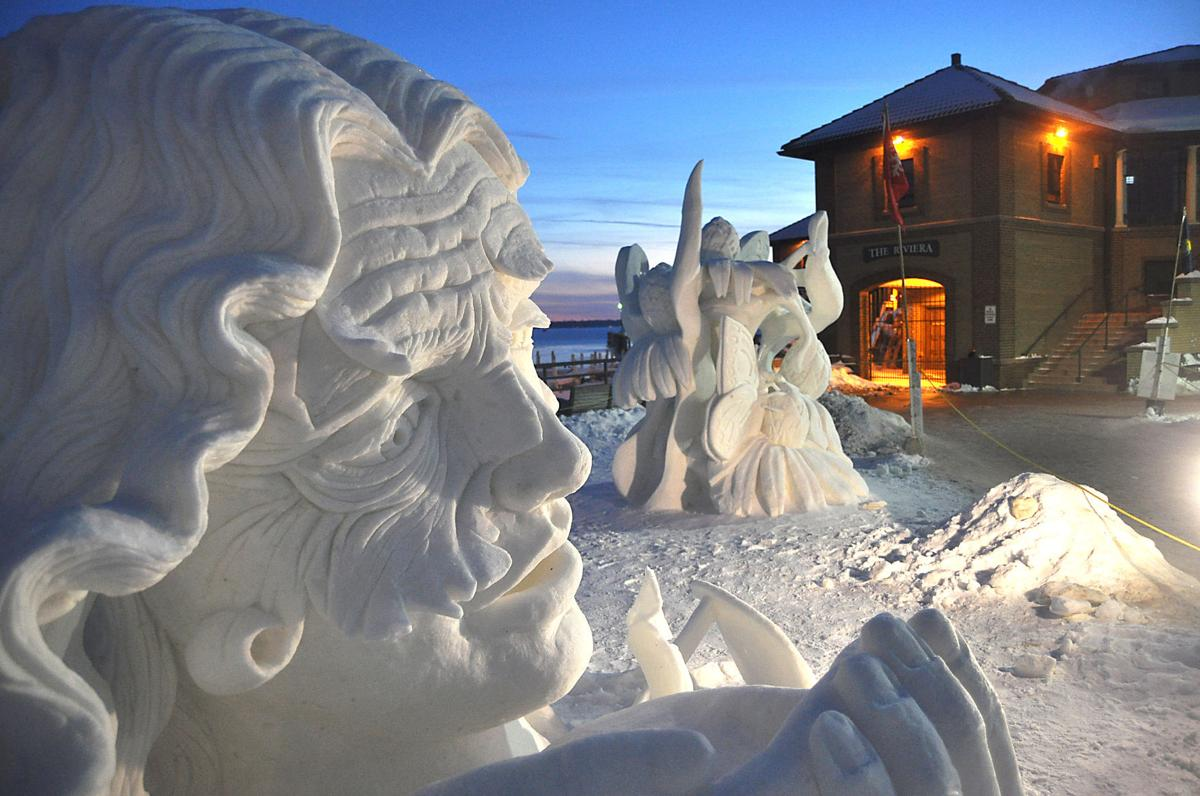 Winterfest snow sculptures