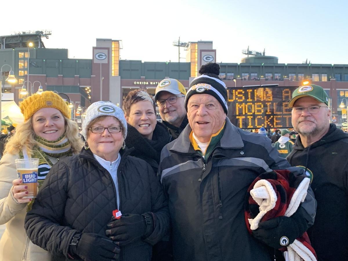 Grams with family at Packers game