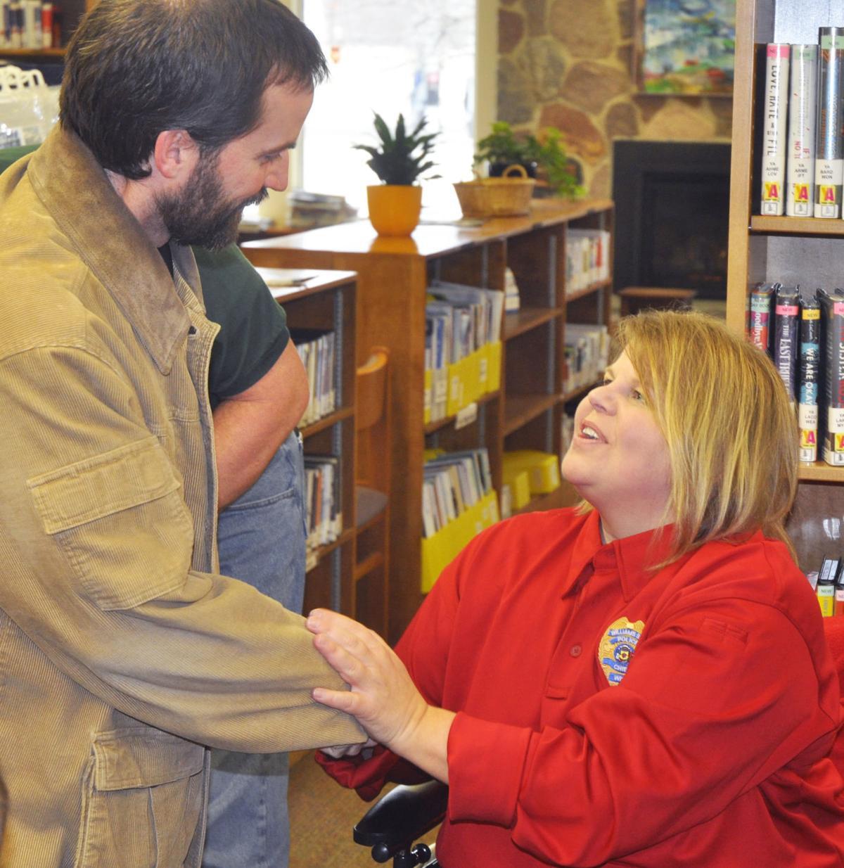 Police Chief Laura Washer with Bob Jenski
