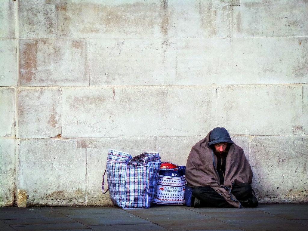 Generic free stock image of homelessness