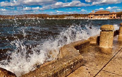 Waves on Geneva Lake in Lake Geneva