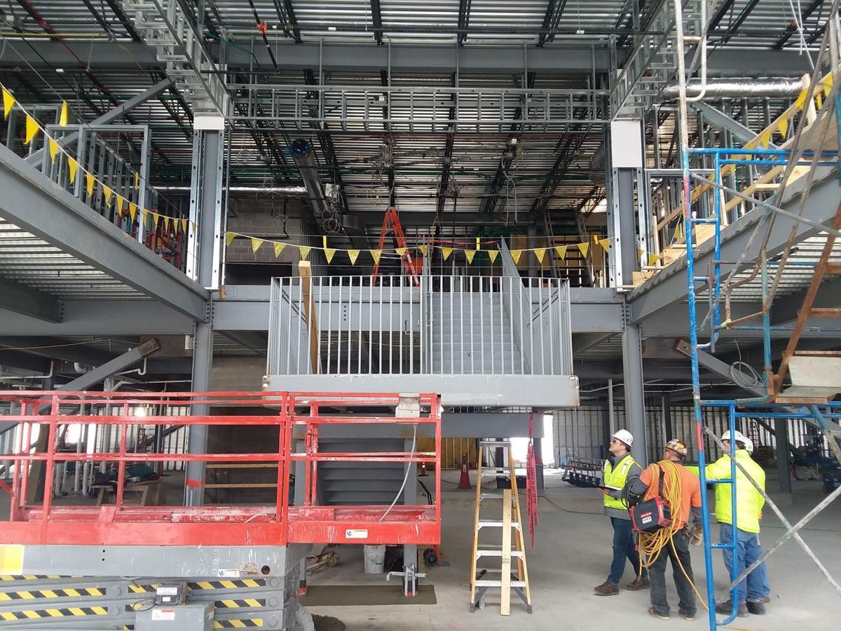 County health center construction interior