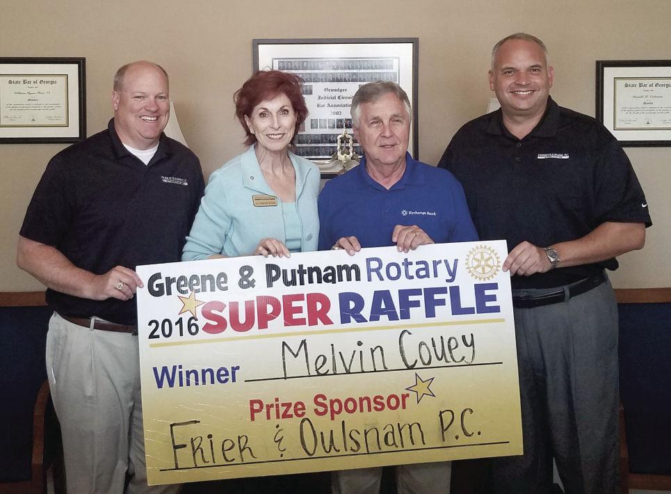 Rotary Raffle winner