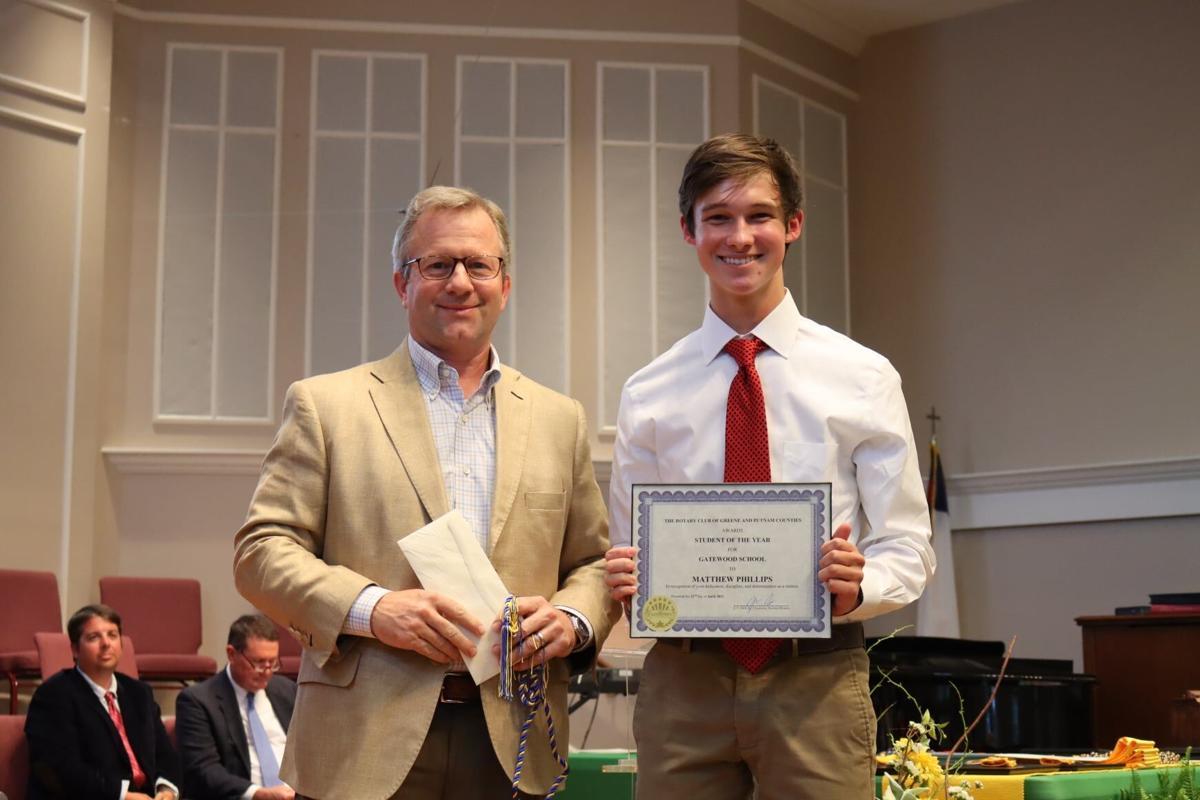 Gatewood Schools – Rotarian Jay Dell, Matthew Phillips