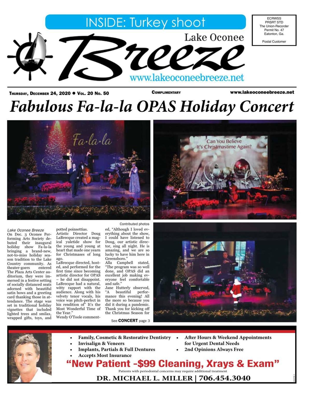Lake Oconee Breeze, Dec. 24, 2020