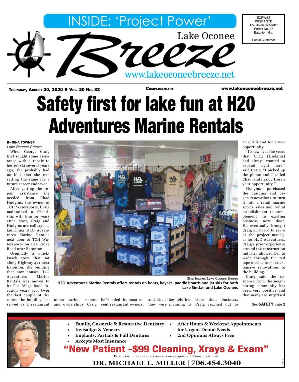 Lake Oconee Breeze, Aug. 20, 2020