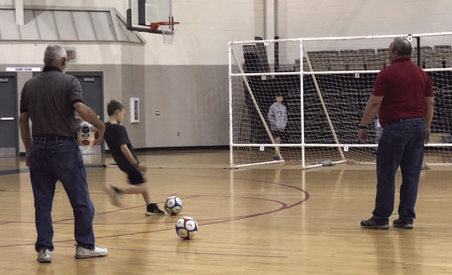 Jameson McCuin squares up on his kick in the Grid Goal Contest.jpg