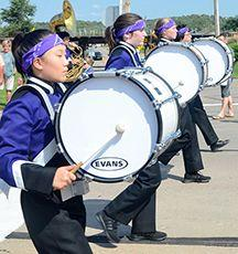 Part of the drumline