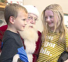 Haddie Christensen, Santa and Camden Huber