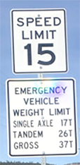 Example speed limit sign