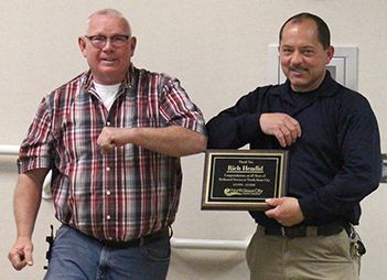 North Sioux City Mayor Randy Fredericksen and North Sioux City Police Chief Rich Headid