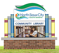 NSC Community Library sign