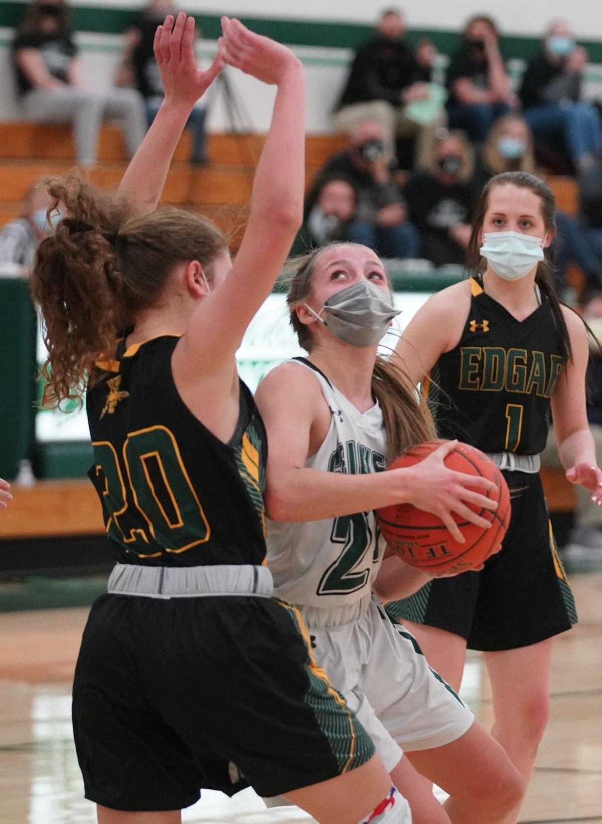 Edgar at Fall Creek girls basketball
