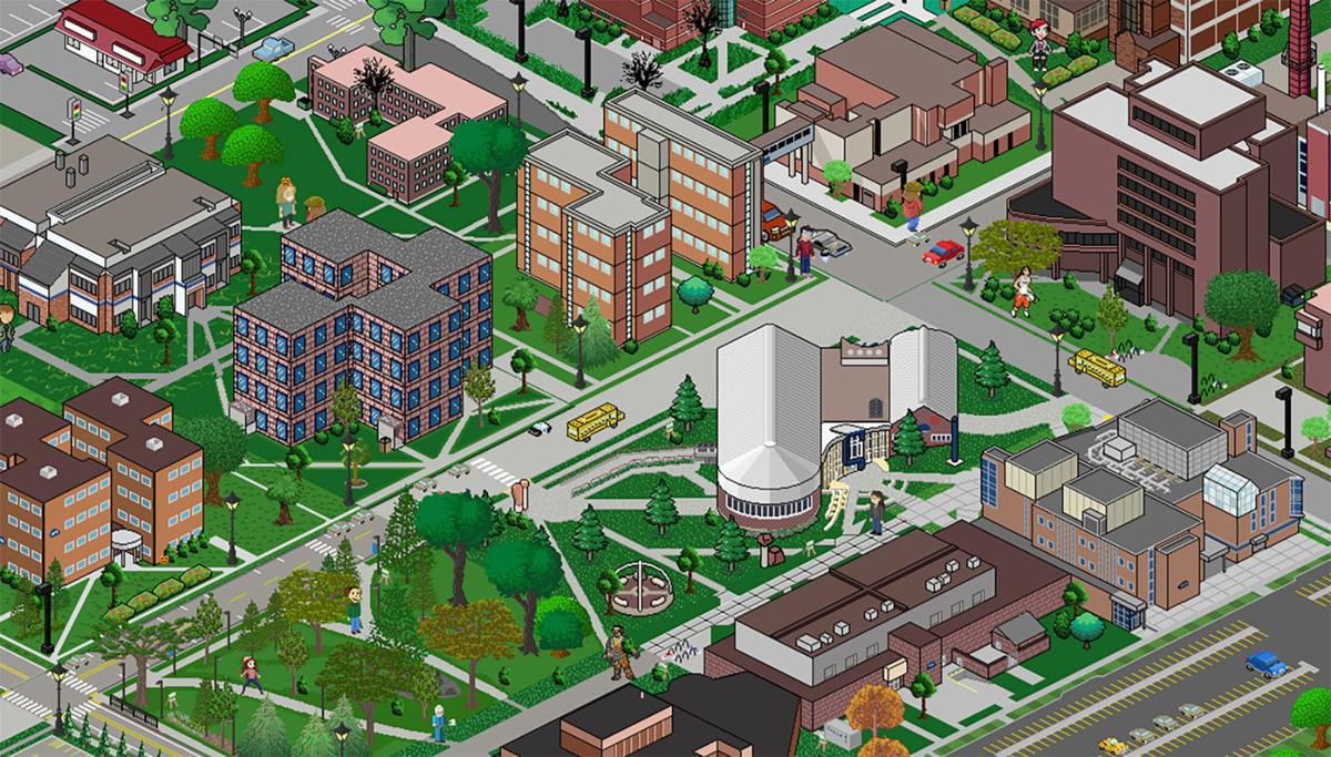 Uw Stout Students Create Game Style Campus Map Front Page