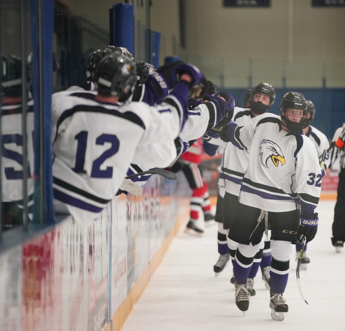 Chippewa Falls at Eau Claire Memorial hockey