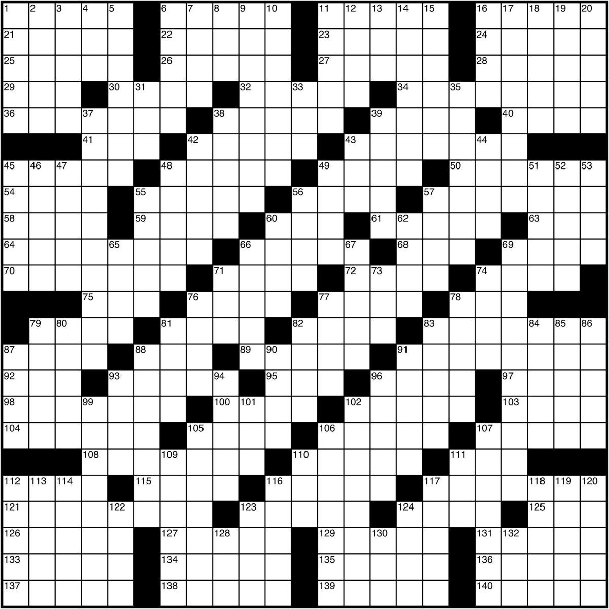 Today S Crossword Puzzle Crosswords Leadertelegram Com