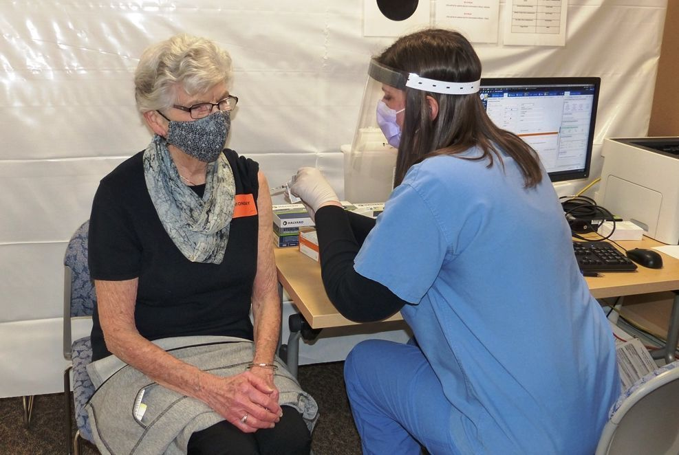Andree Biles one of first seniors to receive COVID-19 vaccine in Eau Claire County