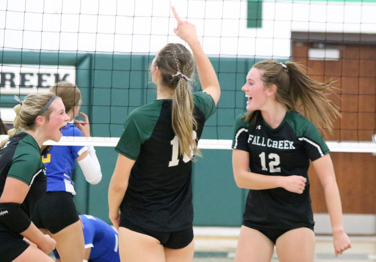 McDonell at Fall Creek volleyball