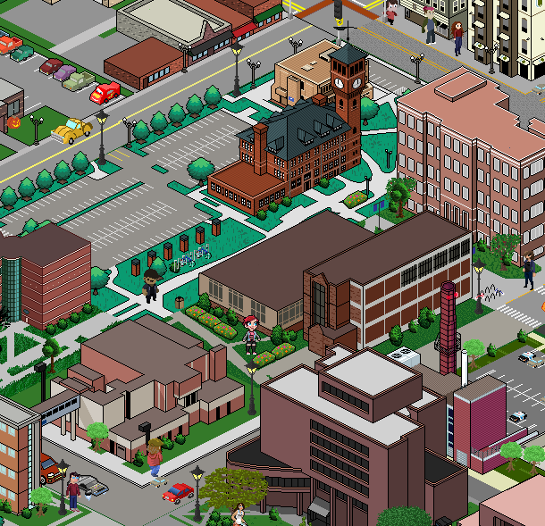 UW Stout students create game style campus map | Front Page