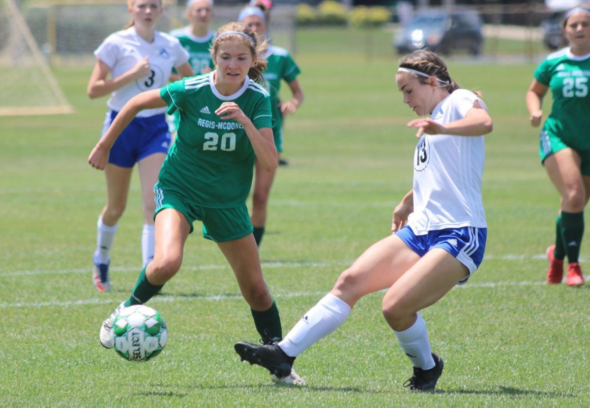 Regis/McDonell at Assumption girls soccer