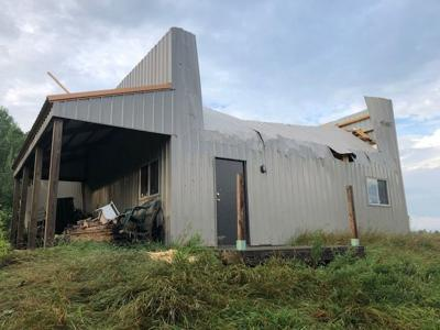 Storm damage from Barron Co
