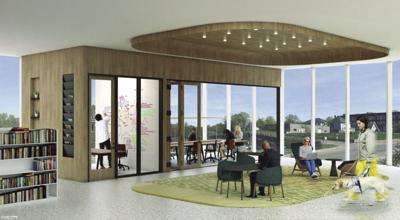 Library meeting rooms conceptual drawing