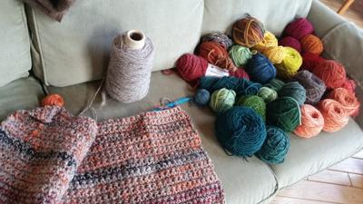 Down on the Farm, rug to be felted