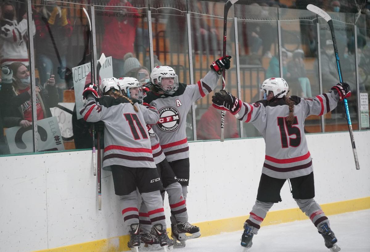 Chippewa Falls/Menomonie at Central Wisconsin girls hockey
