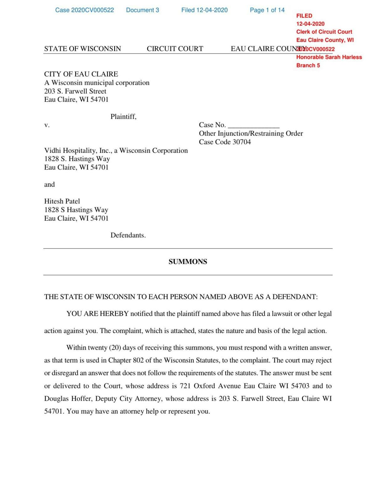 Filed Regency Summons and Complaint.pdf
