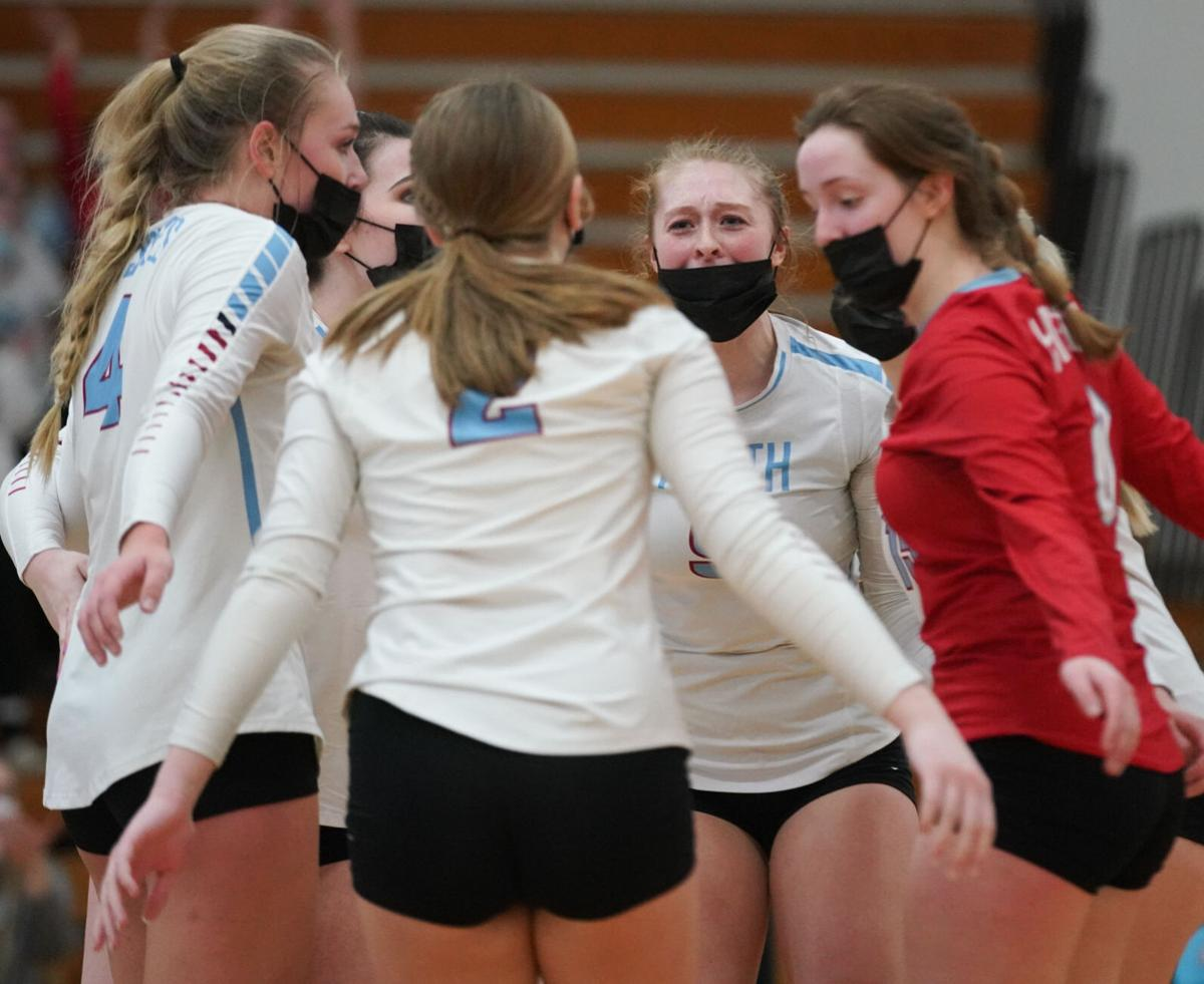 Holmen at Eau Claire North volleyball