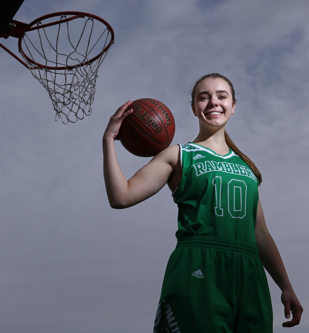 92f30742 All-Northwest Girls Basketball Player of the Year: Regis' Karlstad put  Ramblers on her back