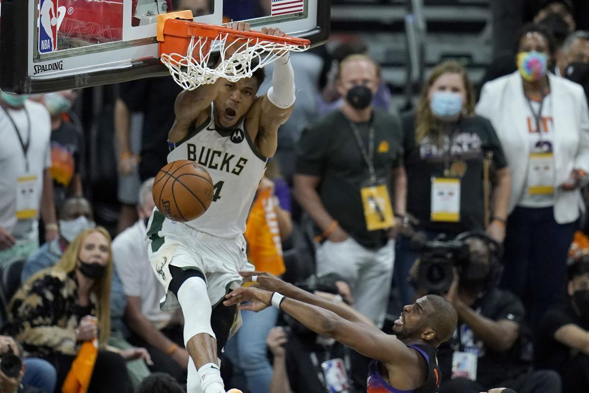 APTOPIX NBA Finals Bucks Suns Basketball
