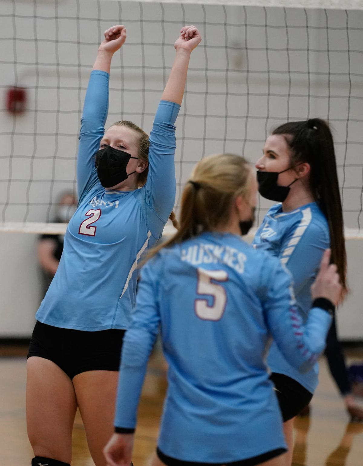 Eau Claire North at Eau Claire Memorial volleyball
