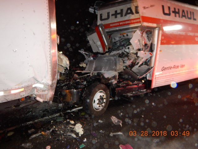 Man dies in U-Haul, semi-trailer truck crash | Daily Updates