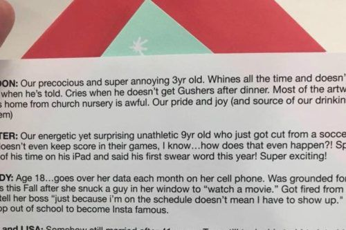 This Family's Brutally Honest Christmas Card Is The Funniest One You'll See All Year