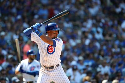 Chicago Cubs second baseman Robel Garcia (16) at bat in the seventh inning against the Pittsburgh Pirates on Sunday, July 14, 2019 at Wrigley Field in Chicago.