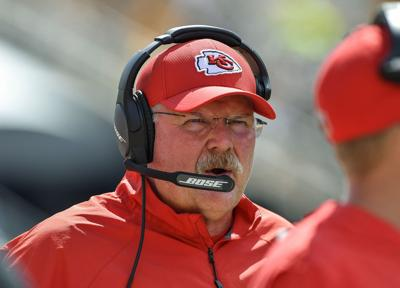 Kansas City Chiefs head coach Andy Reid during a game against the Pittsburgh Steelers on September 16, 2018, at Heinz Field in Pittsburgh.