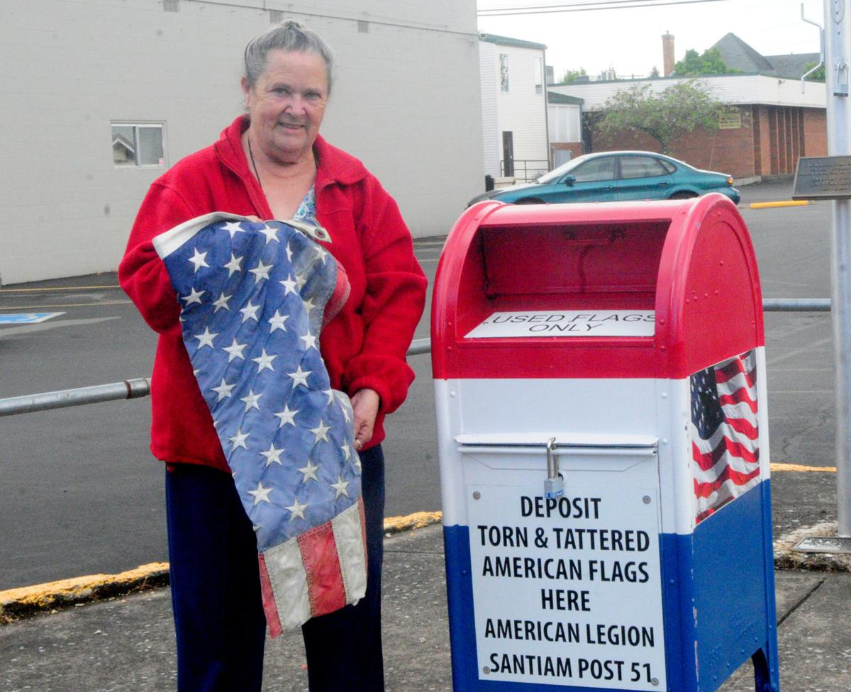 Post offers drop box for used flags -lg