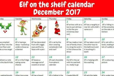 Parents, We Found Elf On The Shelf 'Cheat Sheets' To Make Your December So Much Easier