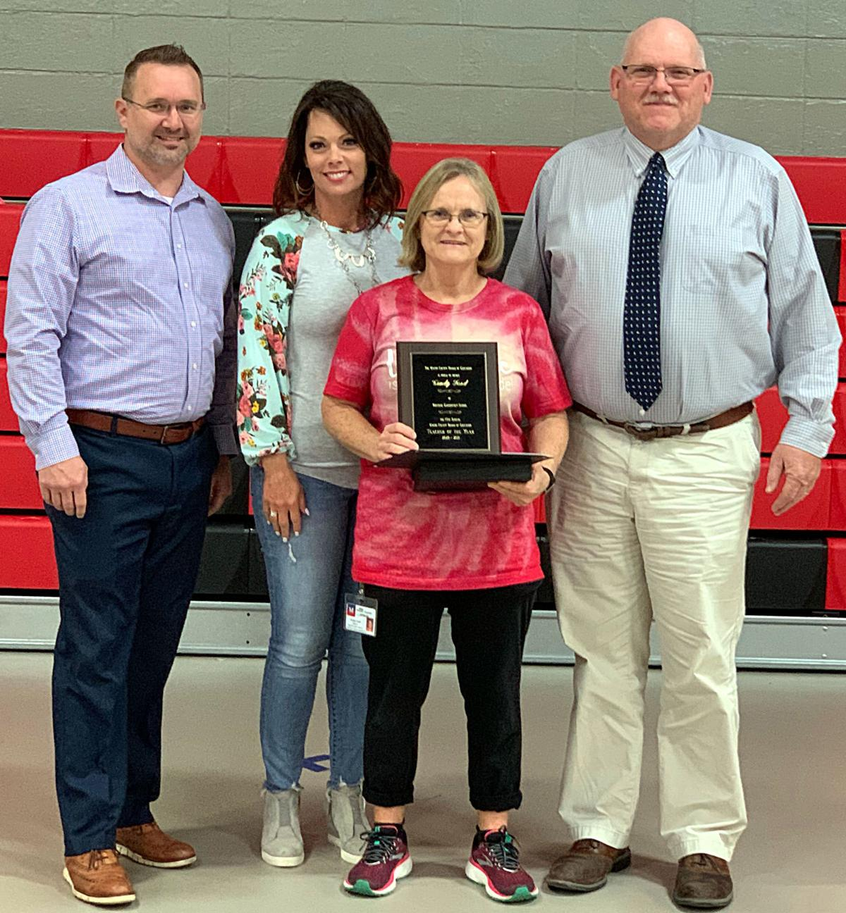 CINDY FORD NAMED TEACHER OF THE YEAR PHOTO 1