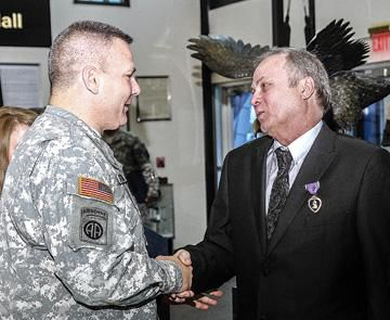 Roach receives Purple Heart Award