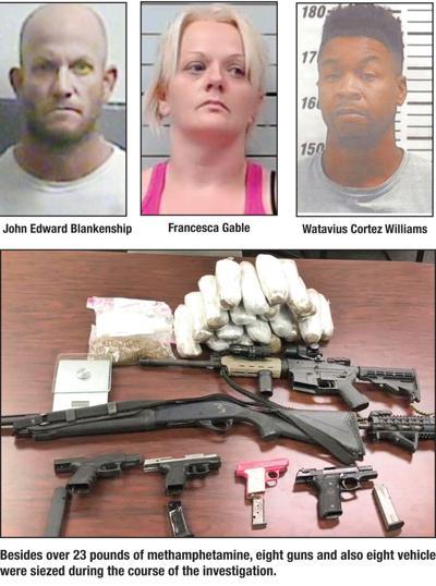 Three suspects in custody after massive meth sting