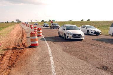 Barnes Crossing road  construction under way