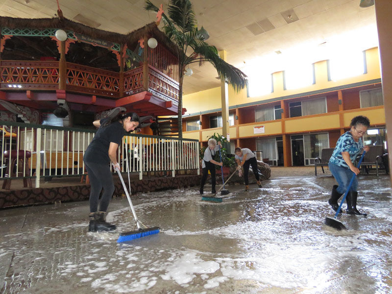 Flooded Ramada and cleanup