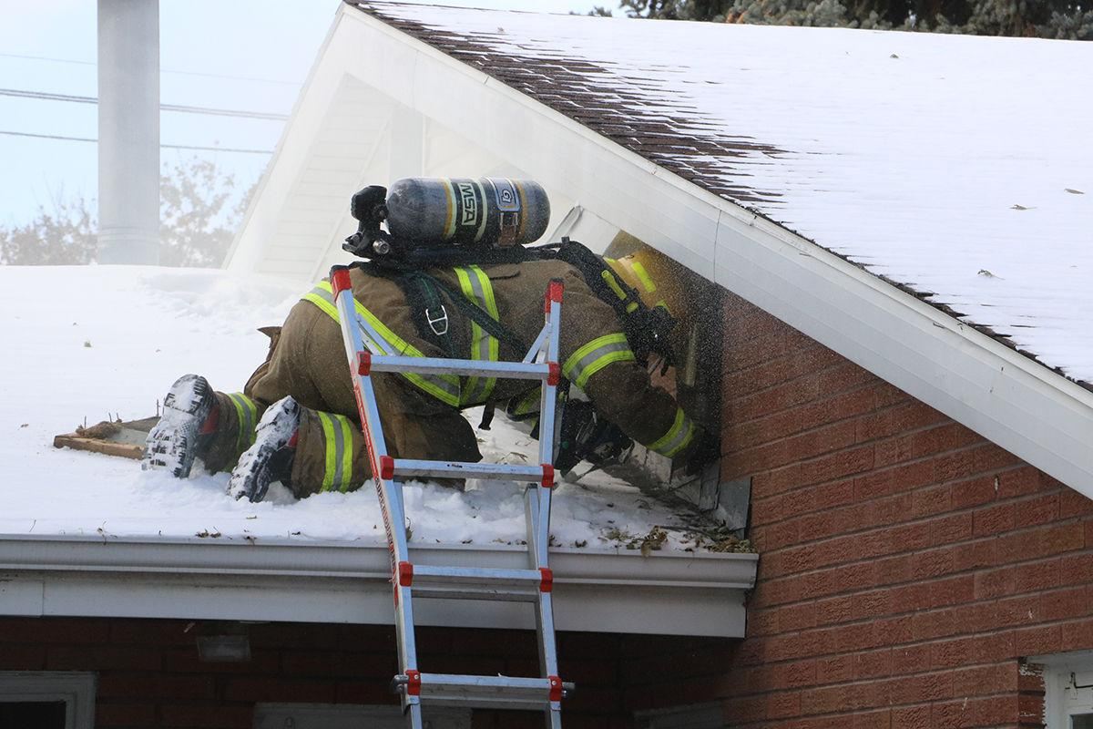 LVFD member inspects roof